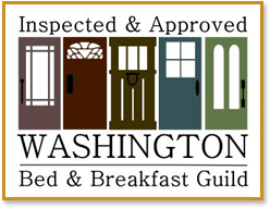 Washington Bed & Breakfast Guild Inspected & Approved banner